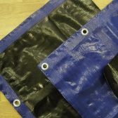 Modrá krycia plachta 3-j vrstvová 200g/m2-  4 x 5 metrov