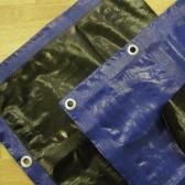 Modrá krycia plachta 3-j vrstvová 200g/m2-  5 x 8 metrov