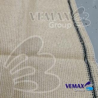 Tieniaca sieť - 1,5x 10 metrov- POŠKODENÝ ÚPLET 5 CM - 91% tienivosť-piesková