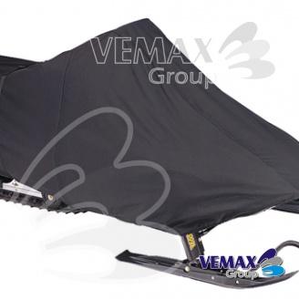 Snežný skúter L -čierny vysokokvalitný polyester